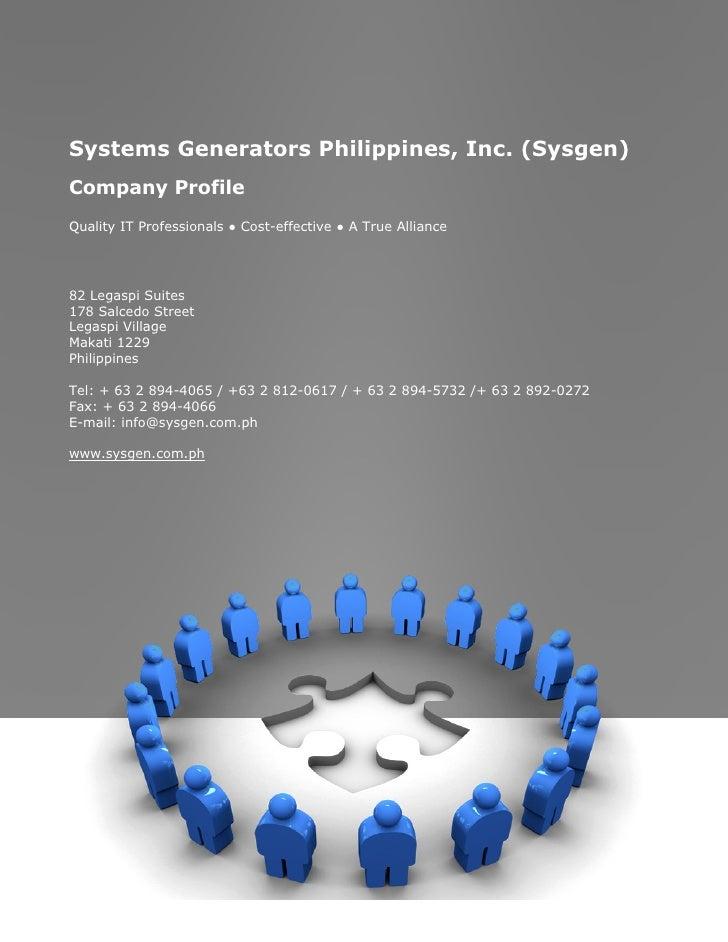 Sysgen Company Profile