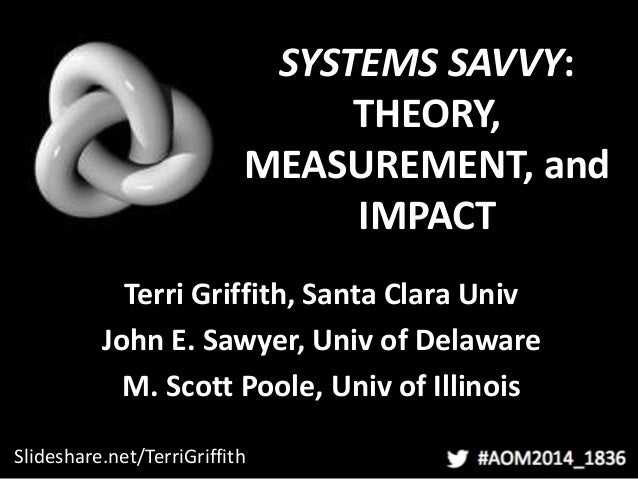 SYSTEMS SAVVY: THEORY, MEASUREMENT, and IMPACT