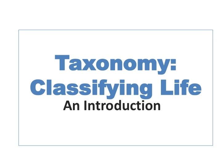 Taxonomy n Systematics
