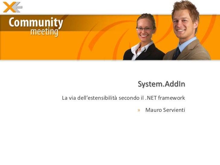System.AddIn @ Xe.Net