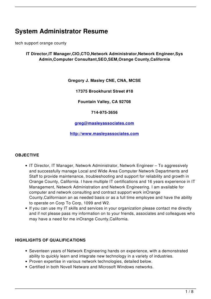 Cognos Administrator Resume | Resume CV Cover Letter