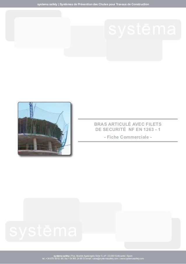 systema safety | Systèmes de Prévention des Chutes pour Travaux de Construction  systema  systema  BRAS ARTICULÉ AVEC FILE...