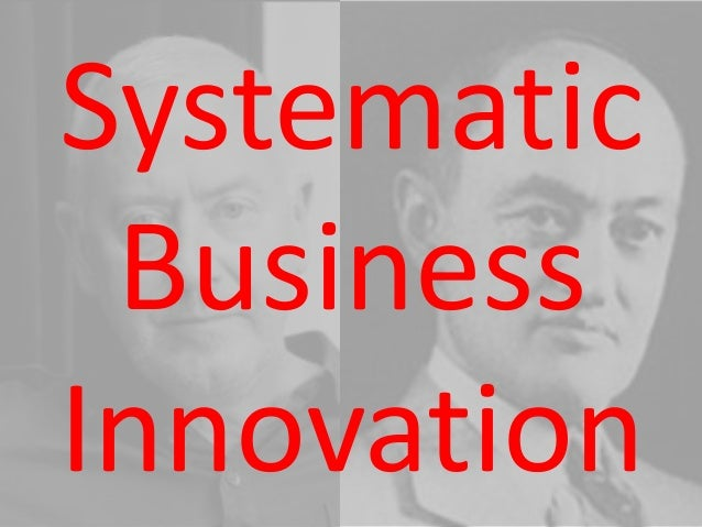 Systematic Business Innovation for Startups