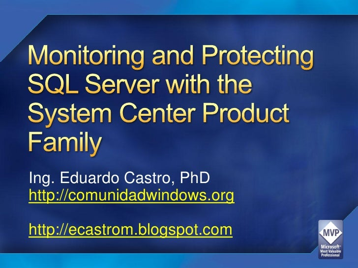 System Center And Sql Server