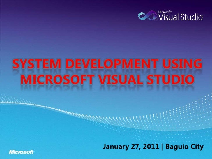 System development using visual studio