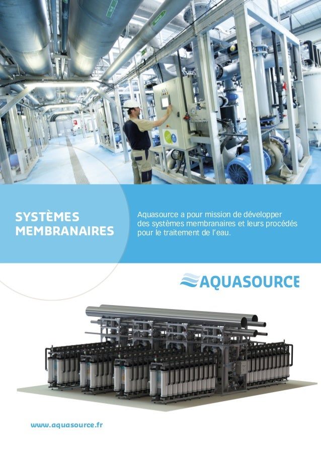 Systemes membranaires aquasource 2013