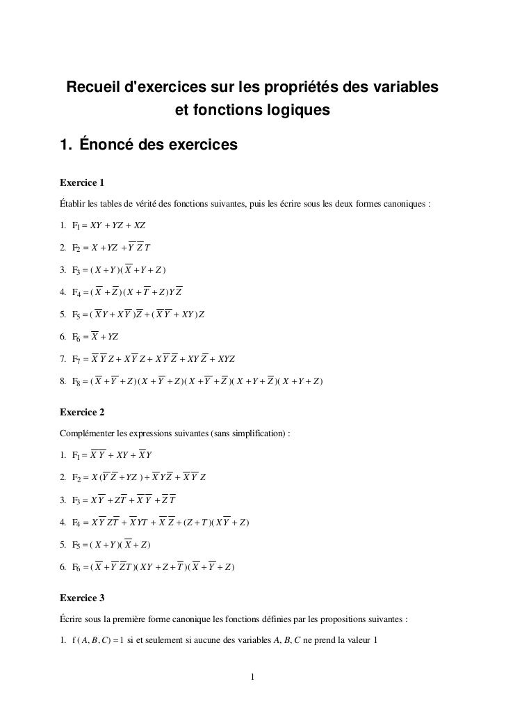 Systemes logiques