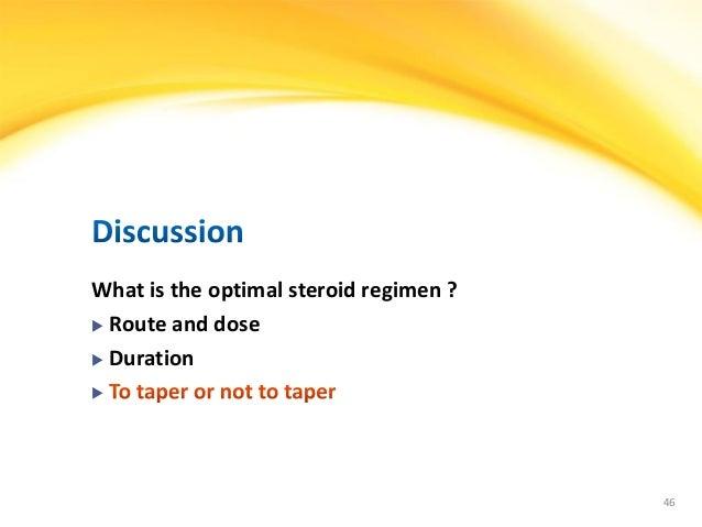 steroid taper adrenal insufficiency