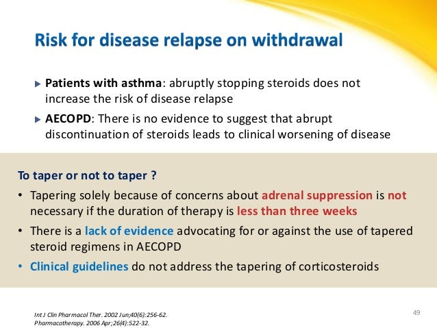 steroid taper dosing asthma
