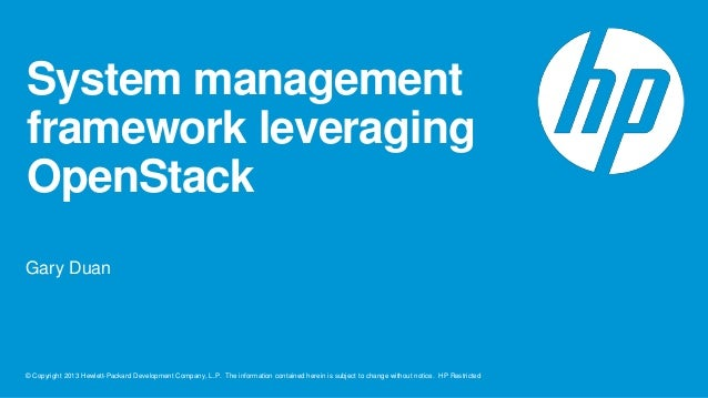 System managementleverageopenstack