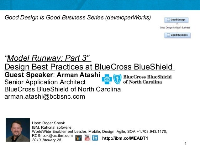 Model Runway, Part 3 Design Best Practices at Blue Cross BlueShield