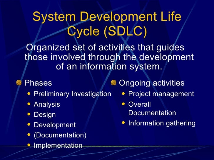 essay on system development life cycle Uni essay help review the steps of the systems development life cycle successful implementation of electronic health information technology.