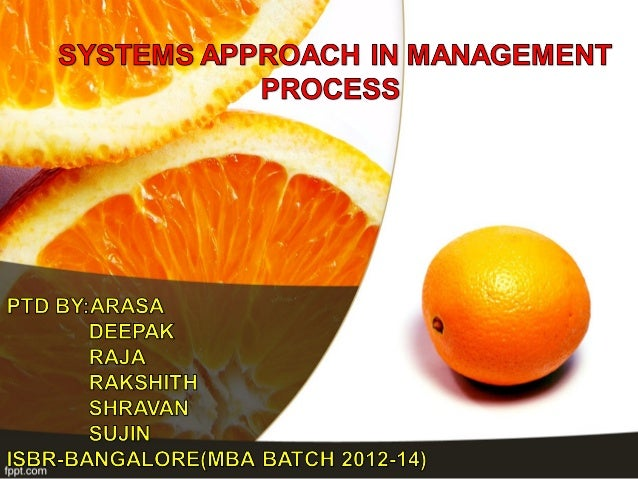 SYSTEM APPROACH A system is set of interrelated and inter dependent parts  working towards a common purpose.For Instance:...