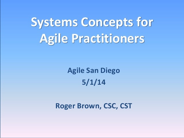 Systems Concepts for Agile Practitioners
