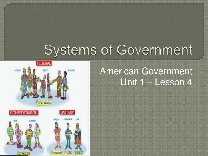 American Government    Unit 1 – Lesson 4