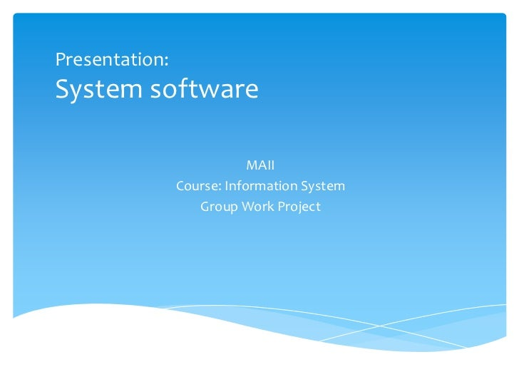 Application Software And System Software Ppt