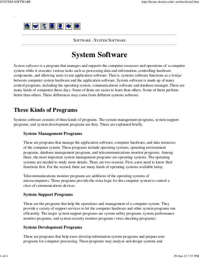 System software vt