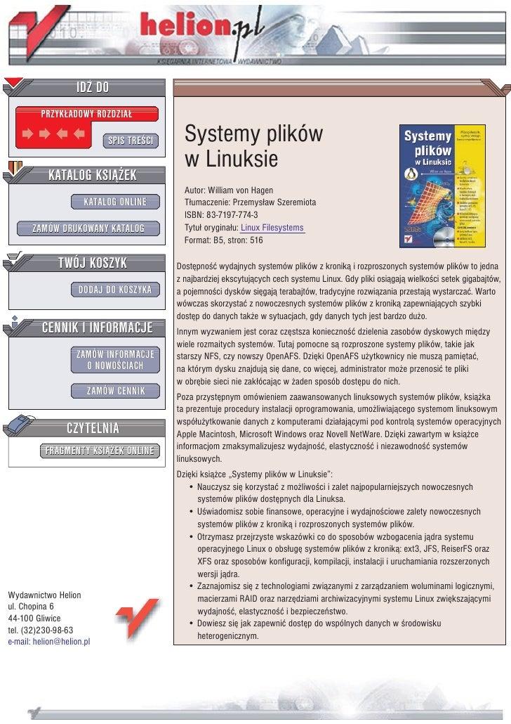 Systemy plików w Linuksie