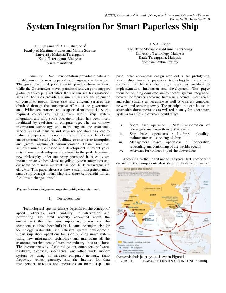 Sytem integration for smart paperless ship   ijcsis paper format - december 2010 pdf correction