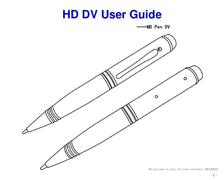 Sz804 720 p&1200p_pen mini dv user manual_20110622