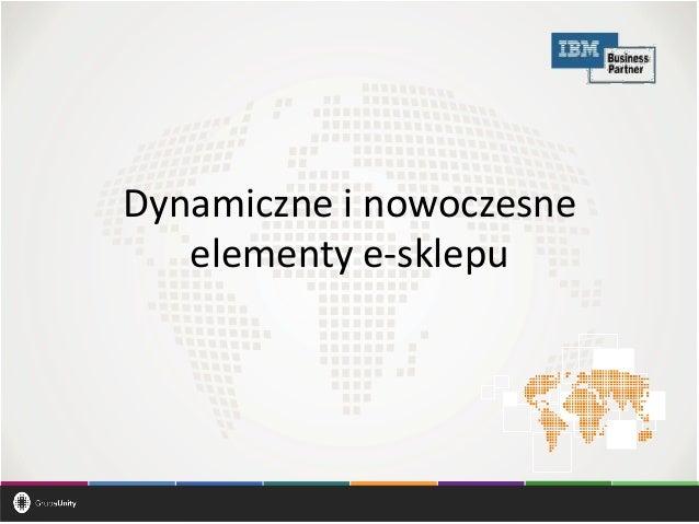 Dynamiczne i nowoczesne elementy e-sklepu