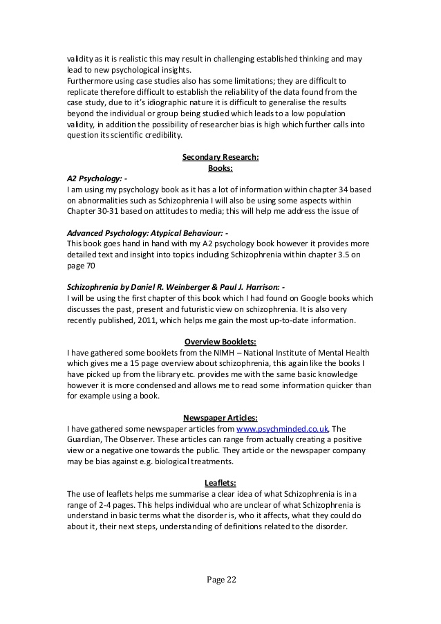 biological treatments for schizophrenia essay