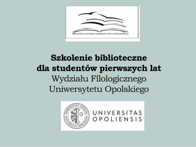 'Sightseeing' library for first-year students of the Faculty of Philology at the University of Opole