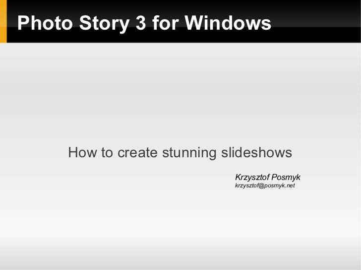 How to create stunning slideshows (PL)