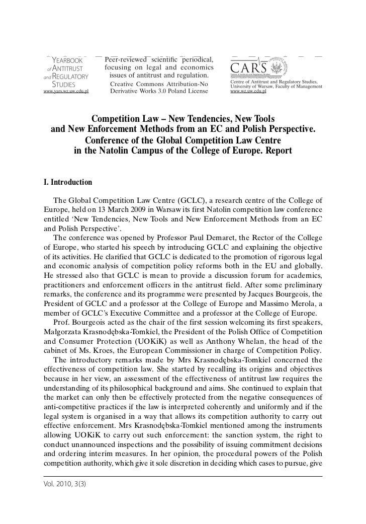 Szwaj, gago   competition law – new tendencies, new tools