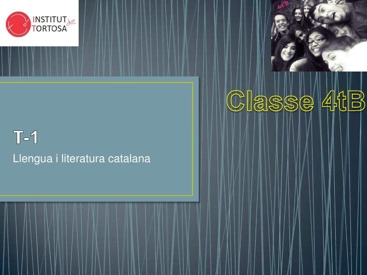 Llengua i literatura catalana