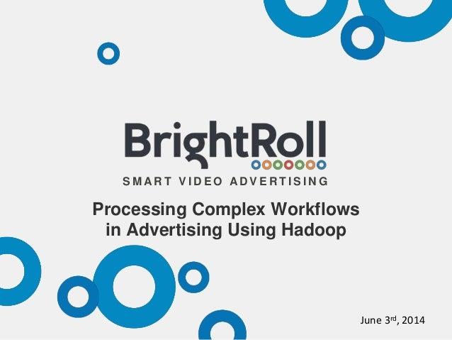 S M A R T V I D E O A D V E R T I S I N G Processing Complex Workflows in Advertising Using Hadoop June 3rd, 2014