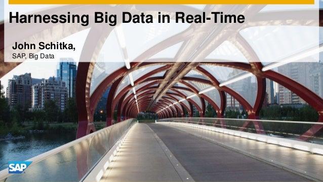 Harnessing Big Data in Real-Time John Schitka, SAP, Big Data
