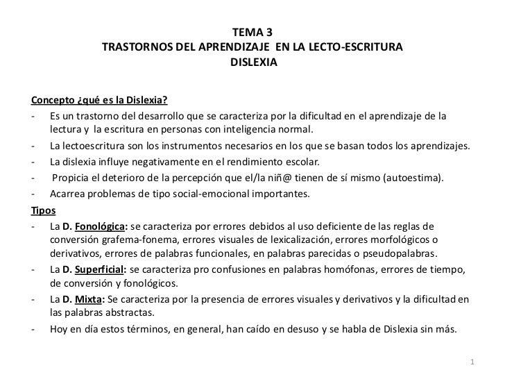 T. 3 dislexia