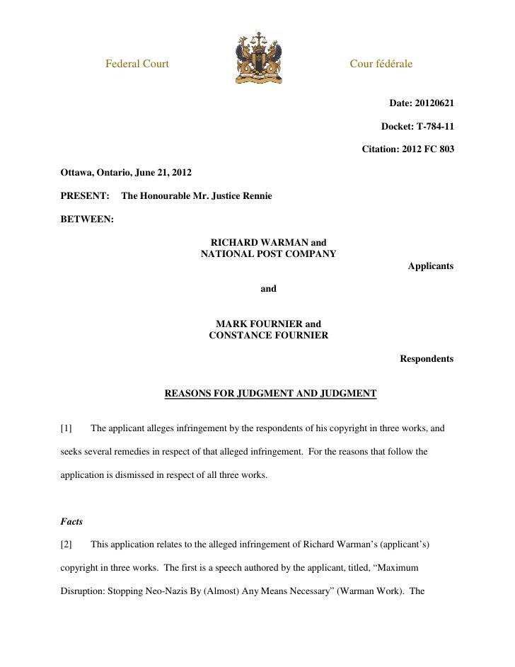 Federal Court                                                  Cour fédérale                                              ...