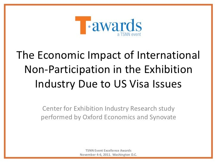 The Economic Impact of International Non-Participation in the Exhibition   Industry Due to US Visa Issues    Center for Ex...