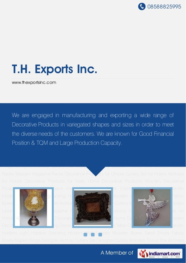 08588825995A Member ofT.H. Exports Inc.www.thexportsinc.comHome Decorative Products Wooden Decorative Products Hanging Dec...