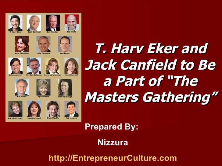 """T. Harv Eker and Jack Canfield to Be a Part of """"The Masters Gathering"""""""