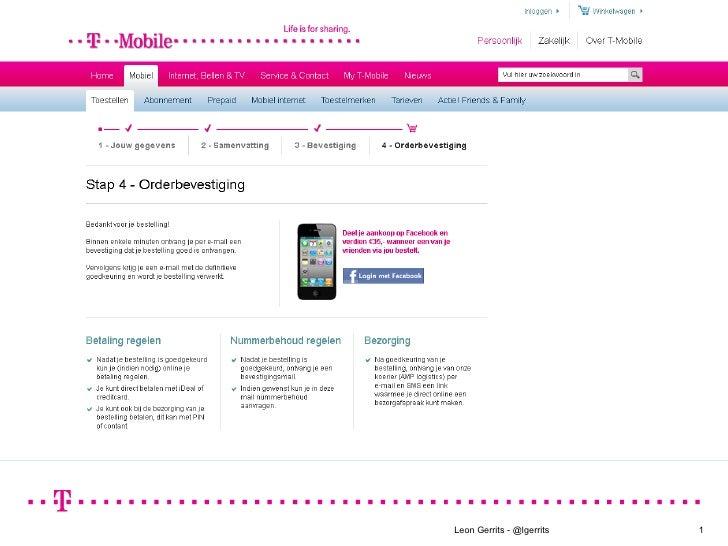 T-Mobile - Facebook delen en vergoeden