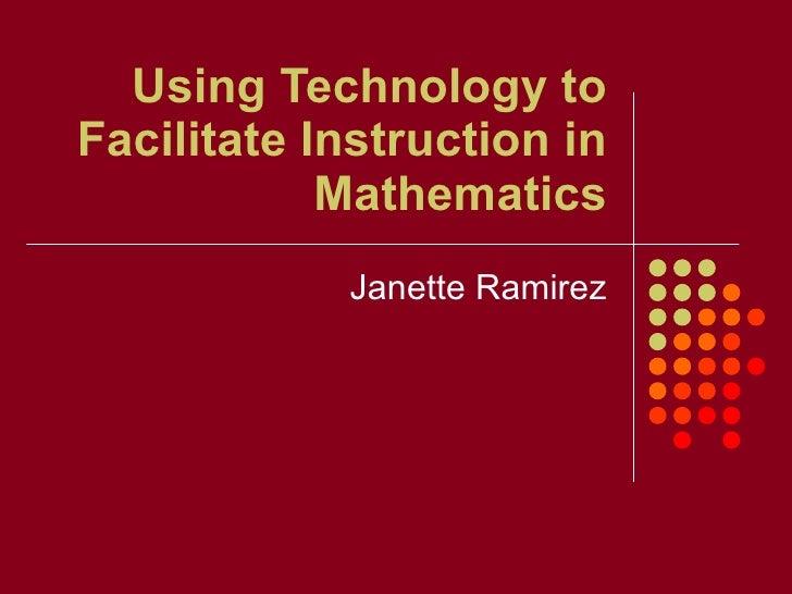 Faciliting Math Instruction