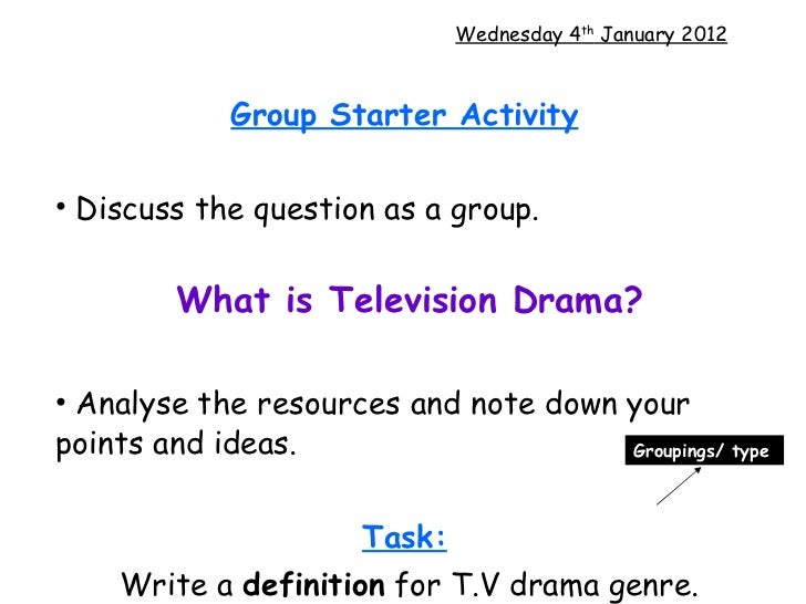 T.v drama intro and shot types[1]