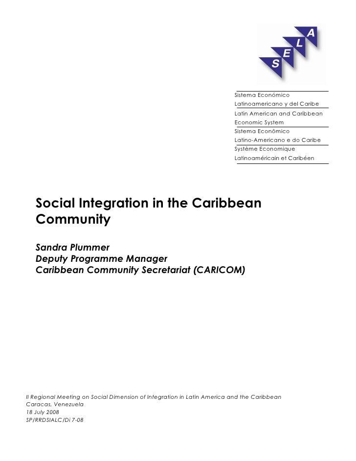 Sistema Económico                                                                         Latinoamericano y del Caribe    ...