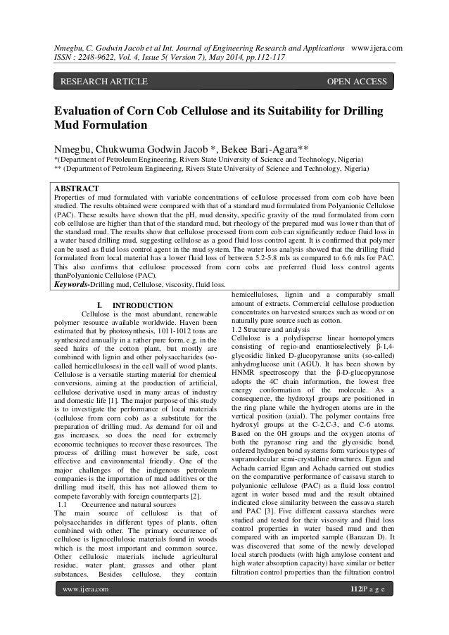 Nmegbu, C. Godwin Jacob et al Int. Journal of Engineering Research and Applications www.ijera.com ISSN : 2248-9622, Vol. 4...