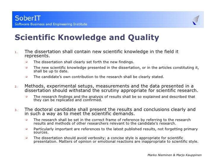 thesis scientific report
