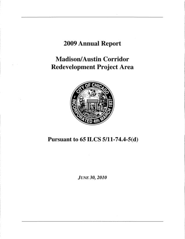 2009 Annual Report for Madison/ Austin TIF
