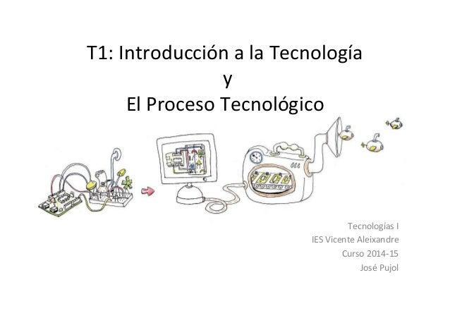 T1:  Introducción  a  la  Tecnología     y     El  Proceso  Tecnológico   Tecnologías  I   IES ...