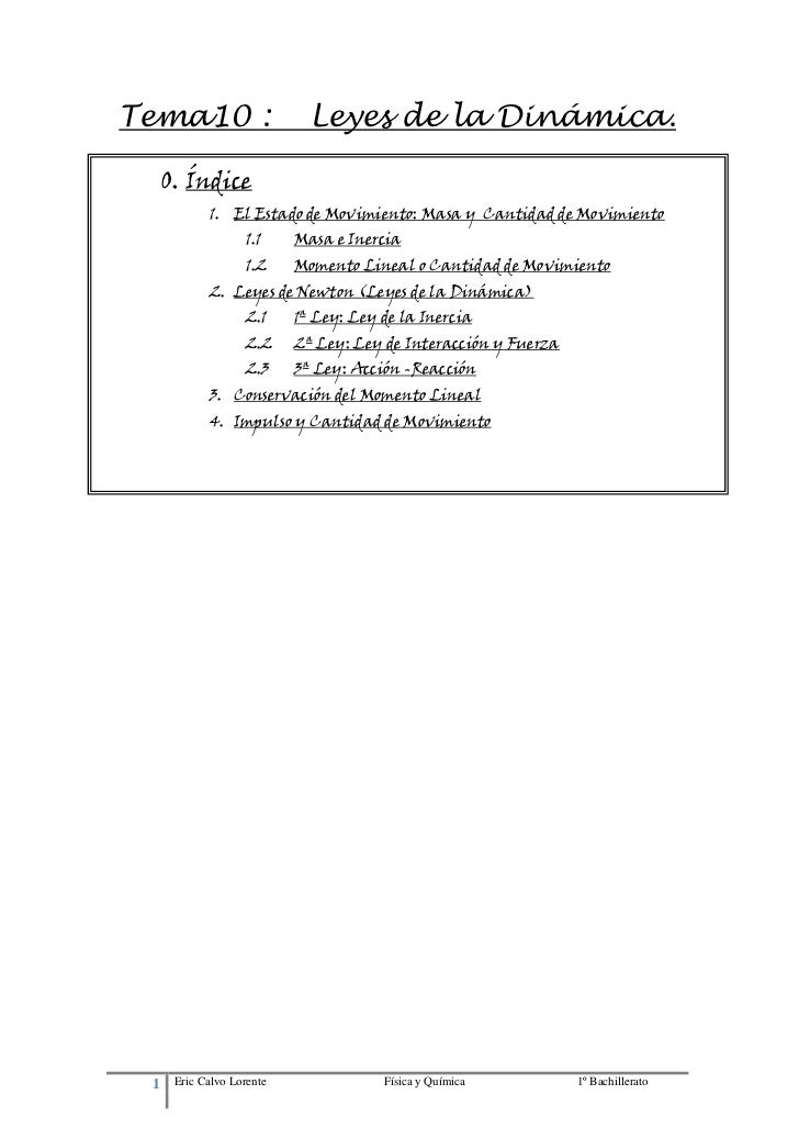 T10.leyes dinámica.1º bachillerato