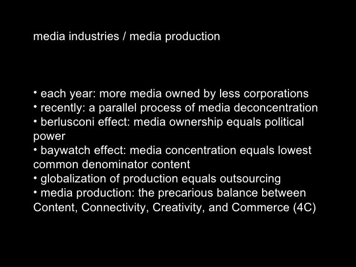 Media Industries and Production