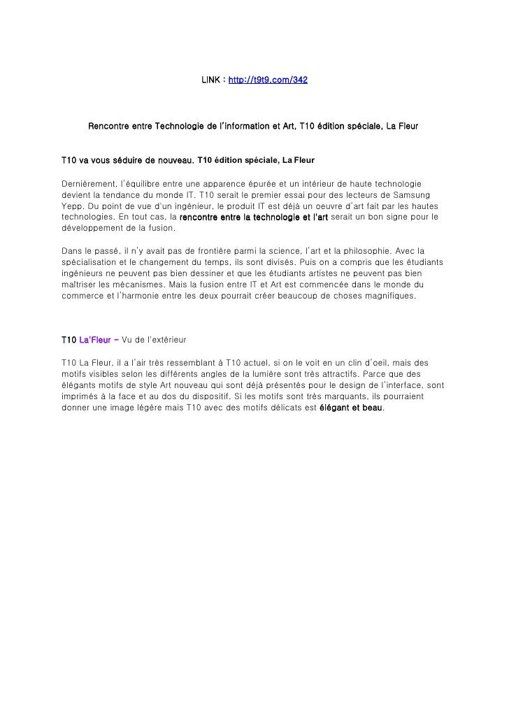 LINK : http://t9t9.com/342           Rencontre entre Technologie de l'information et Art, T10 édition spéciale, La Fleur  ...