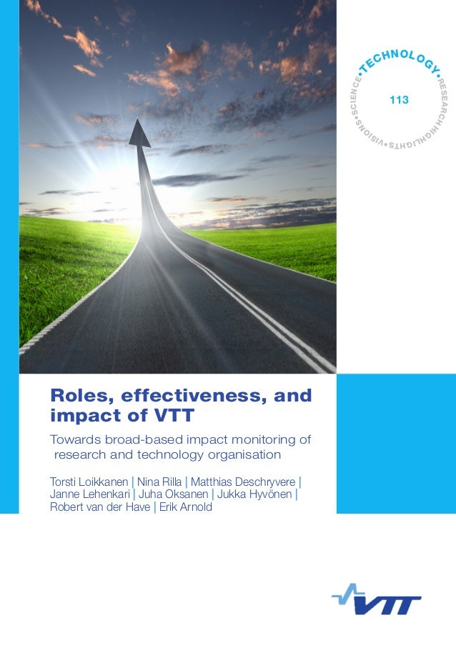 Roles, effectiveness, and impact of VTT