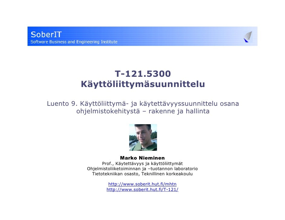 T-121-5300 (2008) User Interface Design 9 - Process